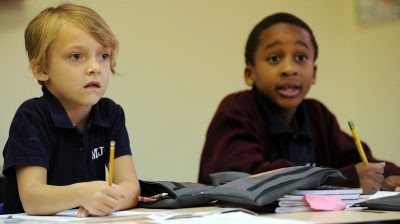 Students at Morris Jeff Community School in New Orleans, one of a small but growing number of charter schools that are trying to be racially and economically diverse. (Photo: The Advocate)