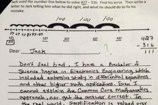 Common Core Math Problem Hard Supporters Common Core Respond Problematic Math Quiz Went Viral on Number Line Math