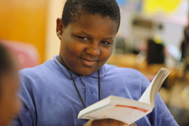 D'Andre is an academic success story at Quitman Street Renew School, where he has been a student since pre-kindergarten and is now in seventh grade. (Amanda Brown / NJ Spotlight)