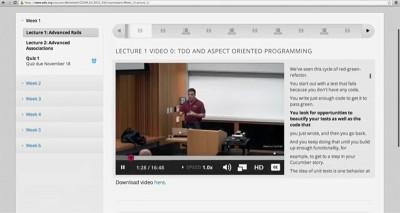 Screenshot from EdX class.