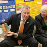 New York City Mayor Bill de Blasio, left, and Schools Chancellor Carmen Farina. File photo. (AP Photo/The Wall Street Journal, Andrew Hinderaker, Pool, File)