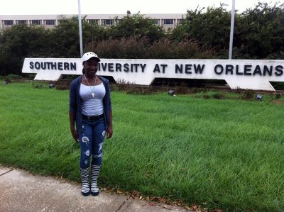 Jasmine Stewart, a college sophomore, says she applied only to Southern University at New Orleans because she didn't want her mother to have to pay more than one application fee. (Photo: Sarah Carr)