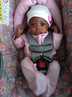 Since her premature birth, Jaid Destini Jones has been growing steadily.  (Photo courtesy of Dwana Harris)