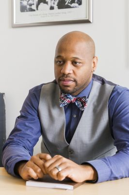 Michael Walker became head of the office of Black Male Student Achievement last July in Minneapolis, which has one of the largest achievement gaps between blacks and whites in the U.S. (photo by Kim Palmer)