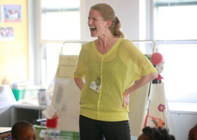Kindergarten teacher Kimberly Dias enrolled her own children at Quitman. (For NJSPOTLIGHT/Amanda Brown)